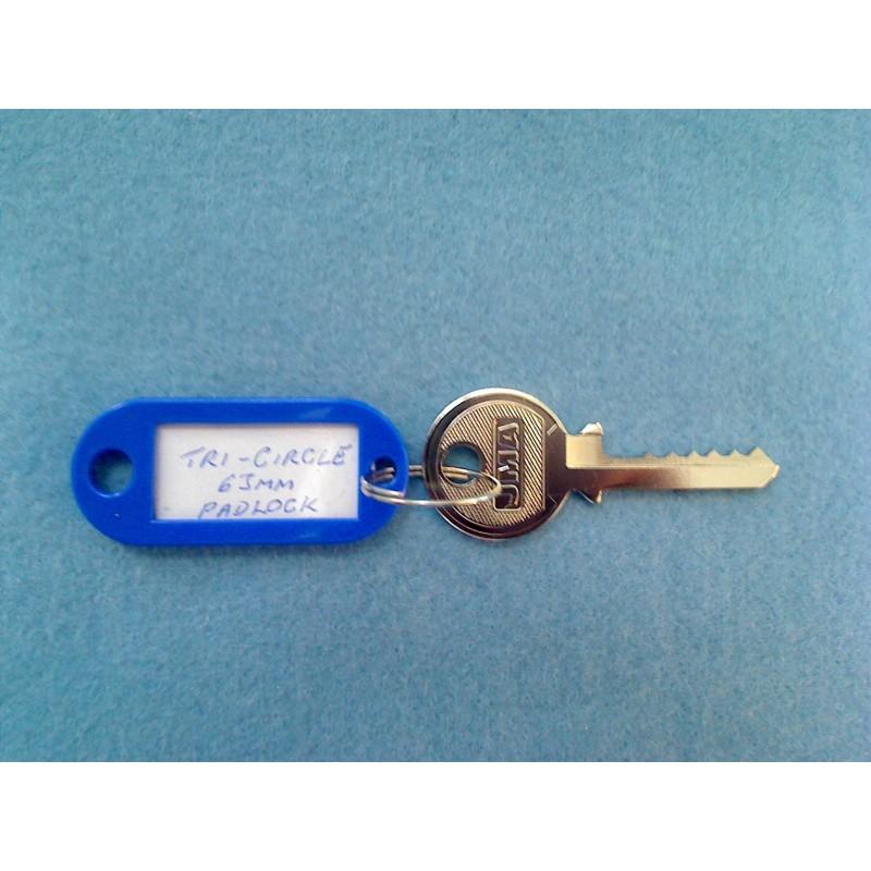 266, 366 Tri-circle 6 pin padlock bump key set (3 keys)